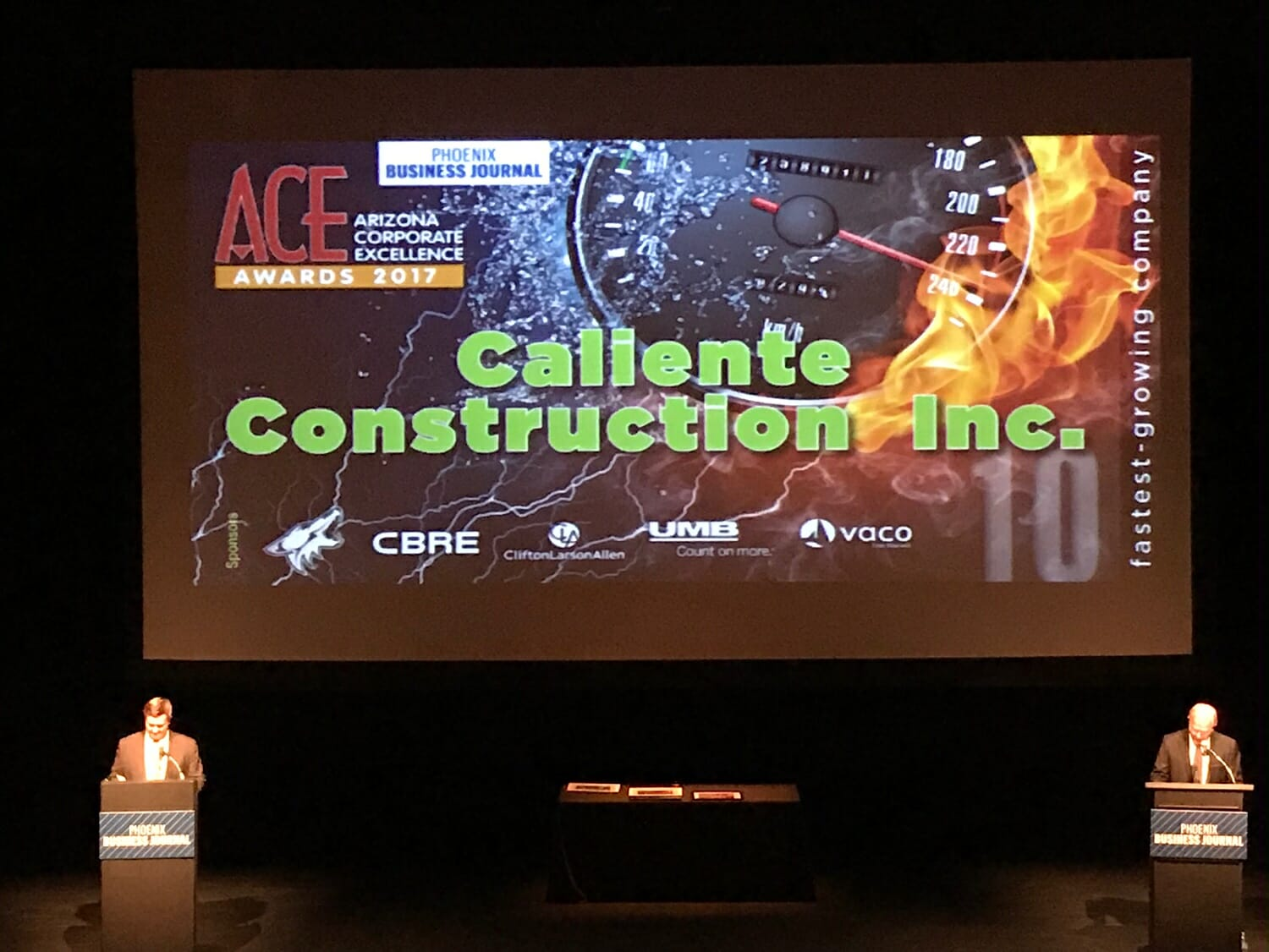 Caliente Honored as One of the Fastest Growing Private Businesses in Arizona