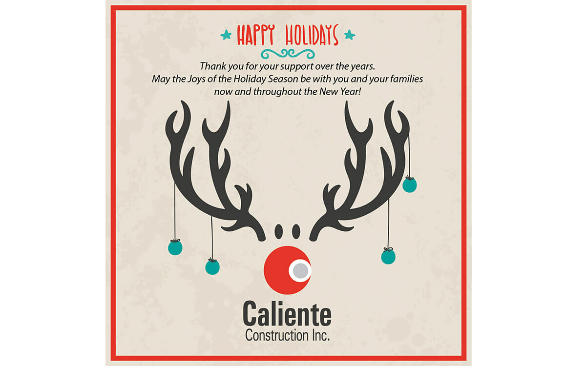 happy holidays from caliente construction