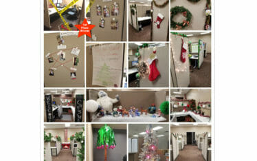 Caliente Construction Holiday Cubicle Winners
