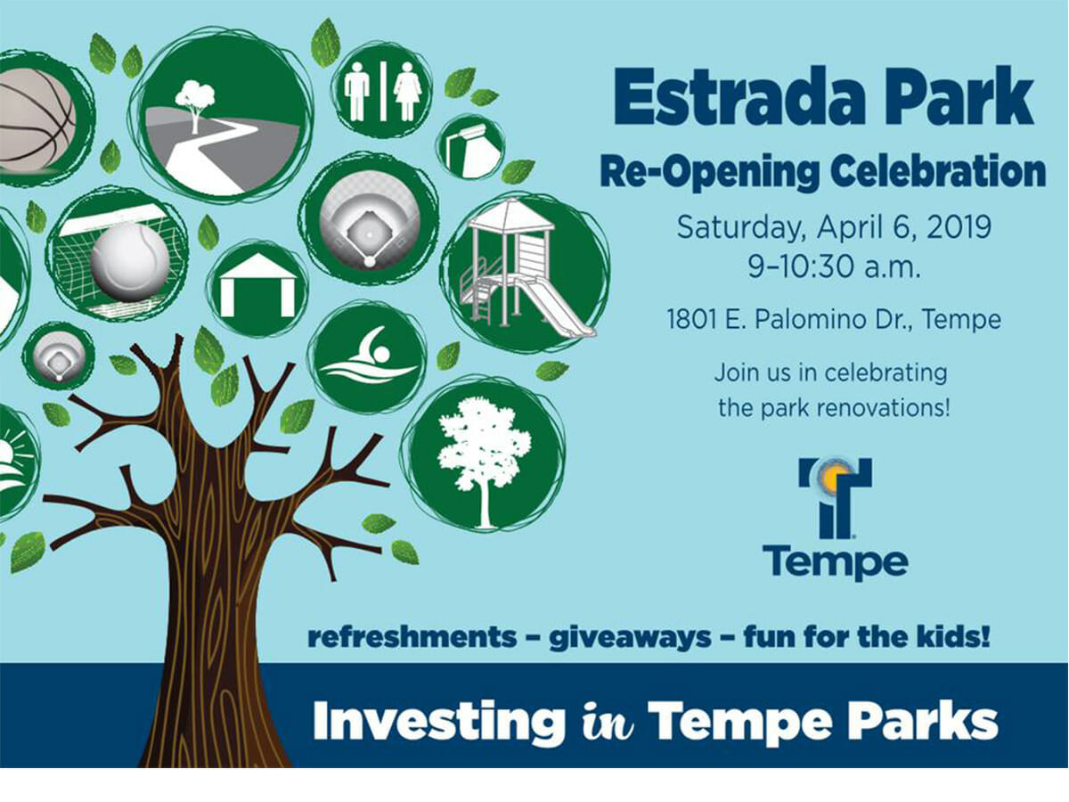 Estrada Park Grand Re-opening April 6